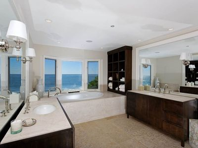 Huge oceanfront master bath