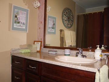 Newly renovated master bedroom en-suite bath includes all new vanity.