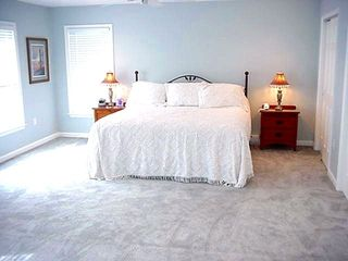 Avalon house photo - Large master bedroom with king bed and water view