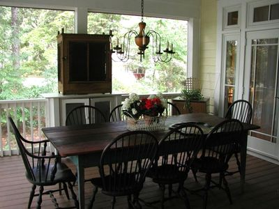 Dining Area on the Screened Porch, beverage refrigerator
