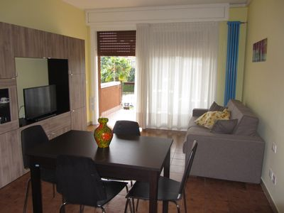 Two rooms with pool, terrace, air conditioning. Near the beach and spa