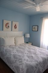 Sarasota house photo - First Bedroom with Queen Bed, Full Screen TV and Views of the Water