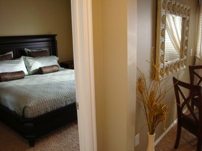 Bedroom with new & very comfortable King Euro Top bed