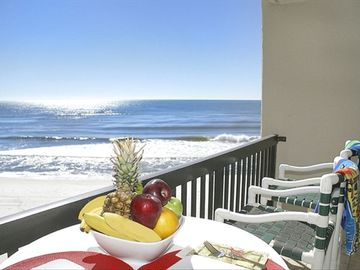 Carillon Beach condo rental - great balcony view- any closer, you'd be in the water
