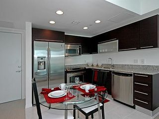 Miami condo photo - Kitchen and dining area