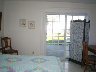 Vermilion house photo - Downstairs Bedroom, patio door view of Lake Erie