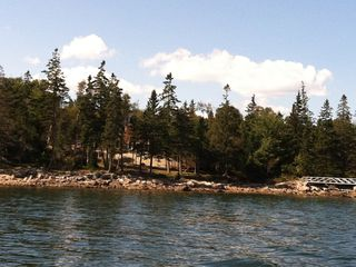 Mount Desert cottage photo - Duck Duck Goose privately hidden just off the shore.