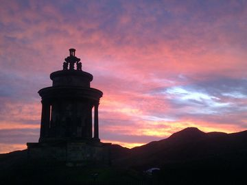Sunrise over Holyrood