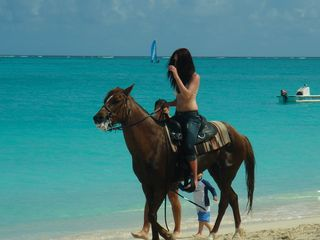 Providenciales - Provo studio photo - horse back riding on the beach