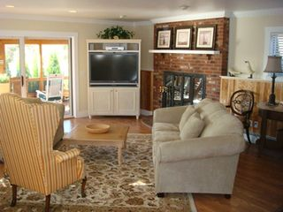 Barnstable estate photo - The Great Fireplace .. a warm, cozy summers dream !