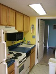 Cherry Grove Beach condo photo - Nellie's nook kitchen - oceanfront unit - pets ok
