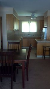 Sandpoint condo rental - Kitchen and dining area
