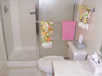 Kenwood condo rental - Master bath shower