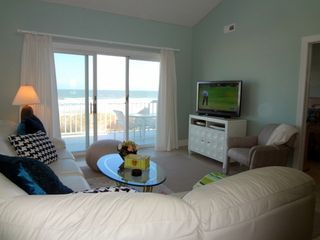 Brigantine condo photo - Living Room with Stunning Ocean Views