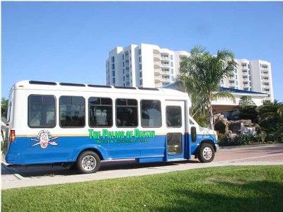 The complimentary shuttle across the street to Henderson Beach