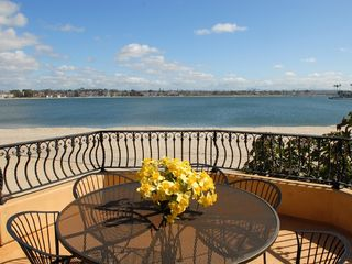 Mission Beach condo photo - Large private deck that runs the length of the building off living room & master