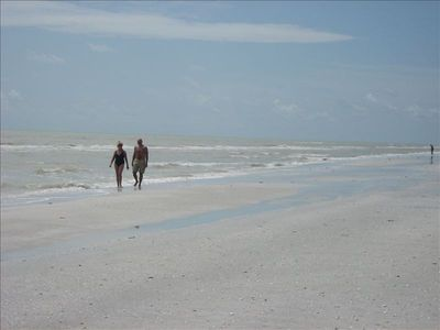Just You, The Beach, And The Clear Waters Of The Gulf--Paradise!