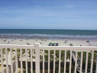 Isle of Palms condo rental - View from Deck to the Beach