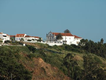 The church in Pederneira seen from terrace