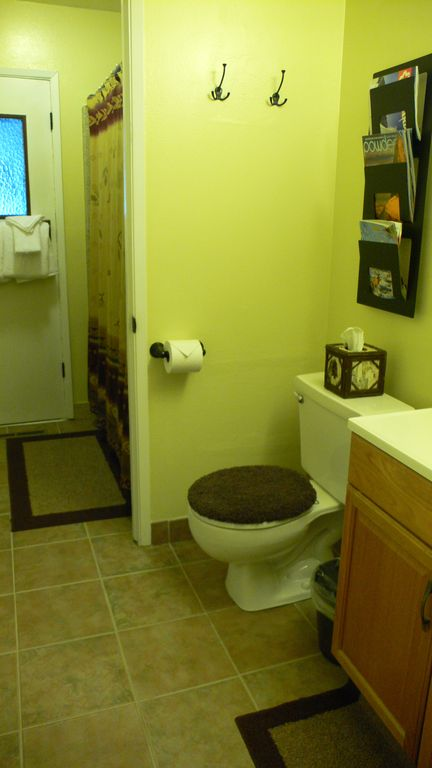 View Into Common Bathroom