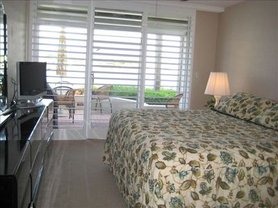 Master Bedroom with waterview. King-bed, private bath/tub/shower, 24 LCD tv