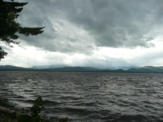 Ossipee Lake house photo - Winter is coming on