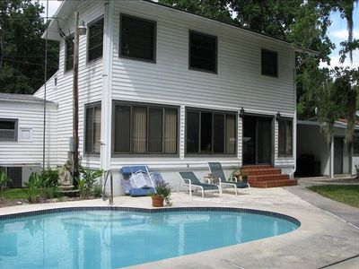Does is get any better? The solar-heated pool is steps from the back door