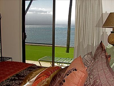 Master bedroom ~ Ocean & Haleakala View