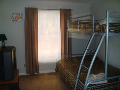 First floor bedroom with bunk bed