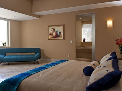 Master bedroom with luxurious ensuite...