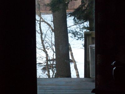 Looking from the deck to the river.