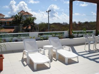 Isla Mujeres house photo - Rooftop terrace with lush tropical folliage