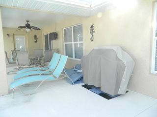 Rotonda West house photo - Lanai area with Loungers and BBQ