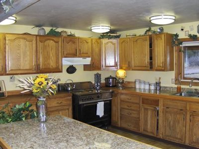 This large country kitchen is fully equipped for large family cooking.