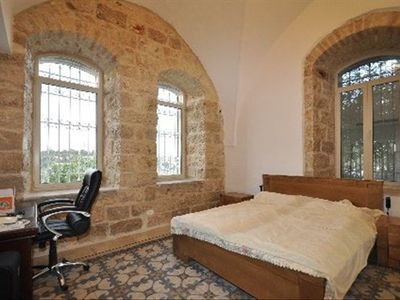 Jerusalem area house rental - Master Bedroom 1. Comfortable bed. En-suite bath
