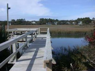 Fripp Island house photo - Your private boat and crabbing dock