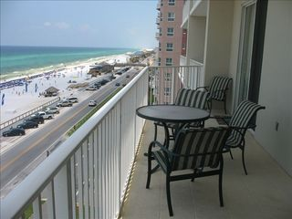 Extra large balcony with access from master bedroom and living area. Great view! - Majestic Sun condo vacation rental photo