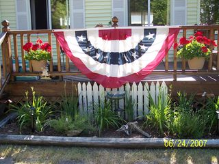 Port Sanilac cottage photo - Deck on road side !!