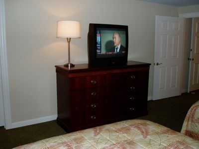 Dresser & large screen TV in the 2nd Bedroom.