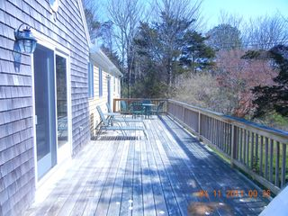Spacious back deck - East Orleans house vacation rental photo