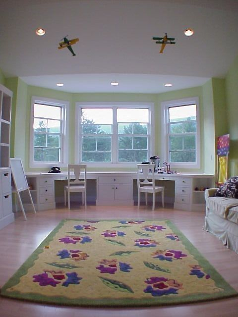 Upstairs center play/guest room.