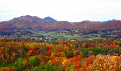 Fall Colors of Wears Valley Below