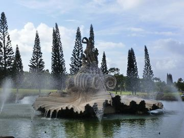 Magnificient Fountain at the entrance to Princeville