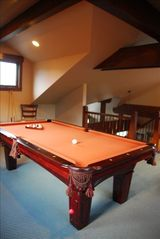 Frisco house photo - The Loft holds a regulation size pool table and TV, private Deck