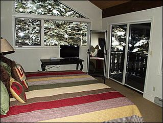 Vail townhome photo - Master Bedroom #2 with King Bed, Loft with Twin Beds, Private Balcony, and Loft with 2 Twin Beds
