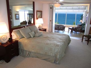 Princeville condo photo - The master bedroom has view straight through atrium to blue Pacific