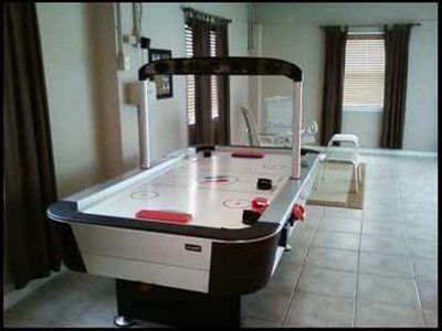 Air hockey table in the game room- kids love this room- first floor- near pool