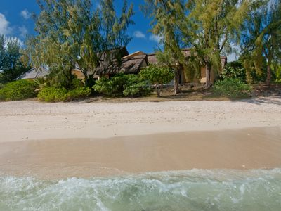 Pleasant beachfront holiday villa, superb setting, very moderate prices.