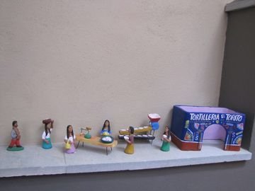 Oaxacan Tortilleria in clay figures