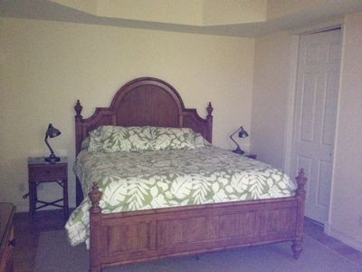 Master bedroom with King bed, Tommy Bahama set.